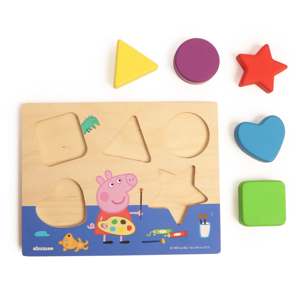 Peppa Pig's Shape Sorting Board