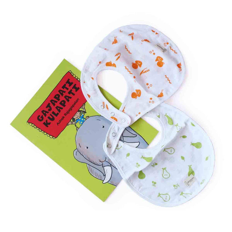 10% Off | Duck & Pear Bib And Gajapati Kulapati Book Combo - Shumee