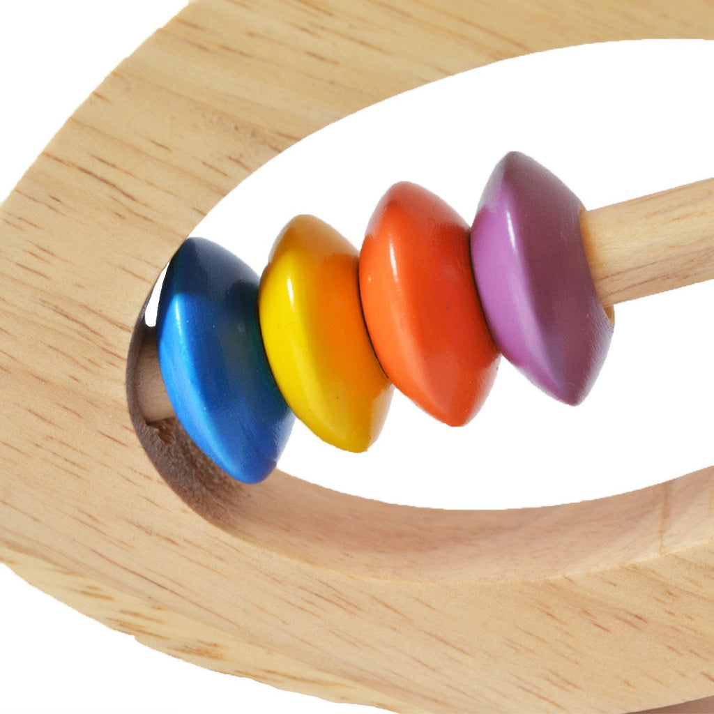 Buy Shumee wooden fish baby rattles with colorful beads