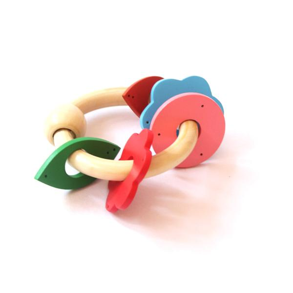 Klickety keys - Wooden Rattle & Teether for Babies