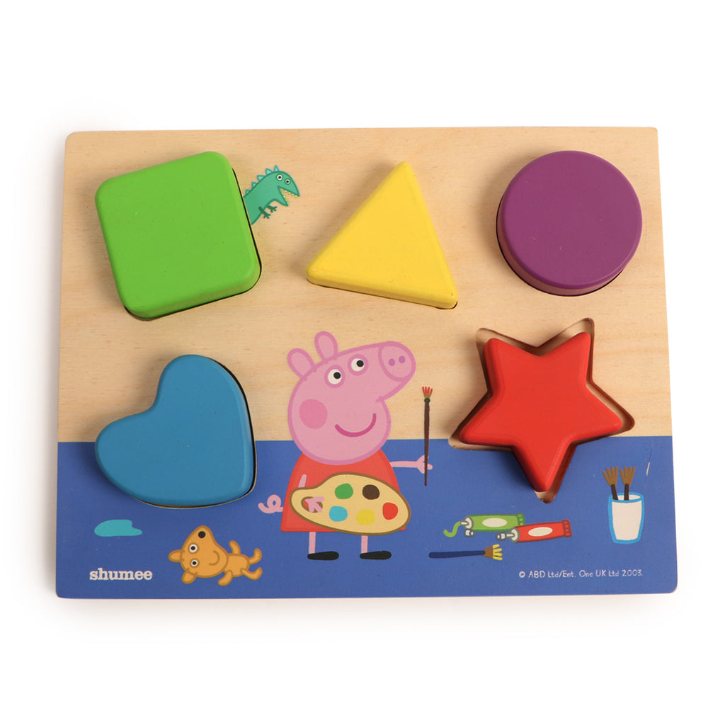 Peppa Pig's Shape Sorting Board and FamJam Card Game Combo