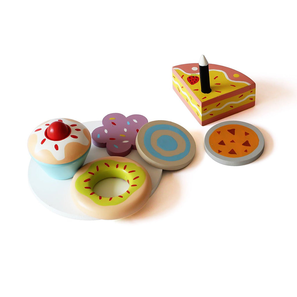 Wooden Dessert Set (15 pcs)