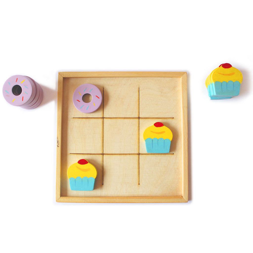 Wooden Tic Tac Toe (Dessert themed)