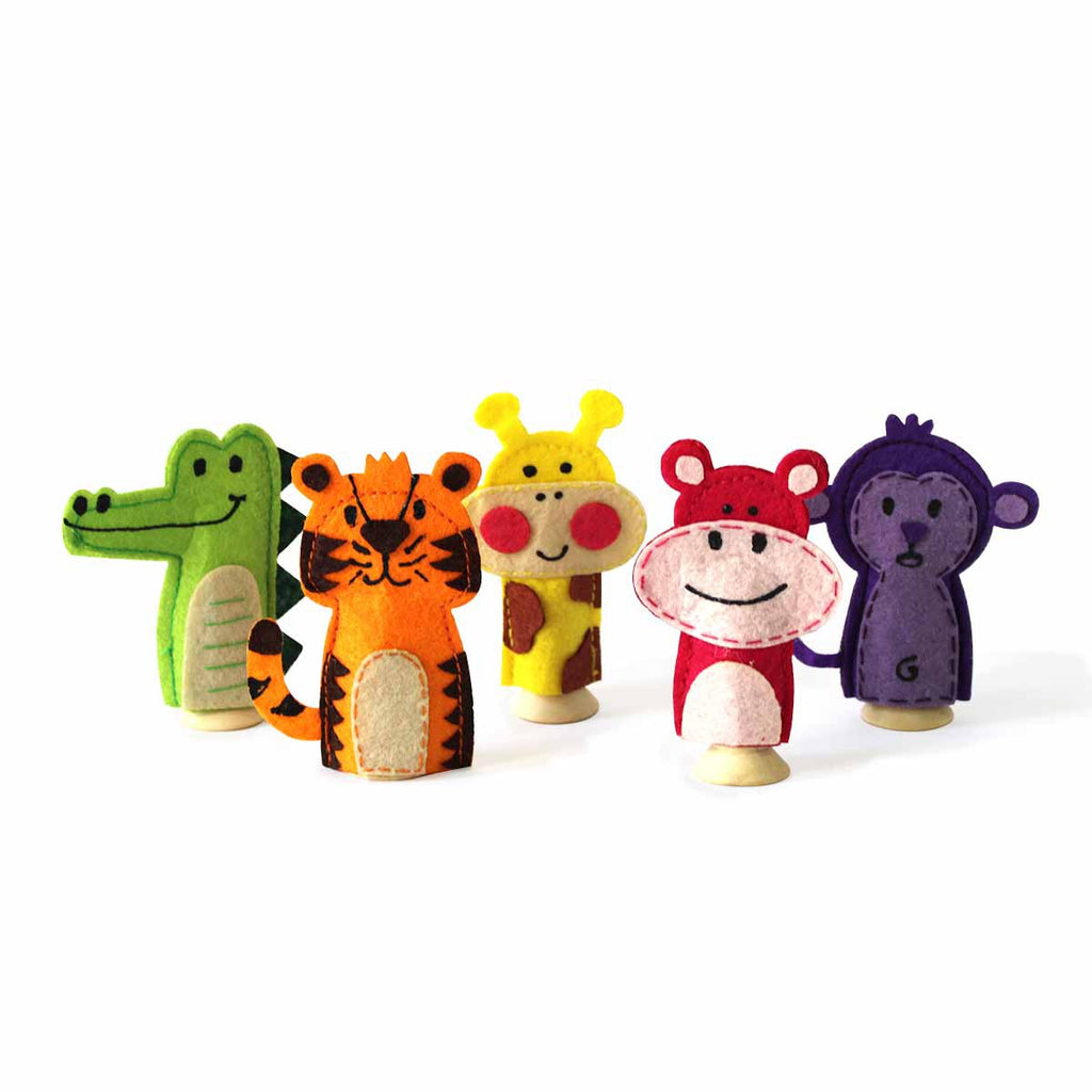 Jungle Adventure Finger Puppets Set