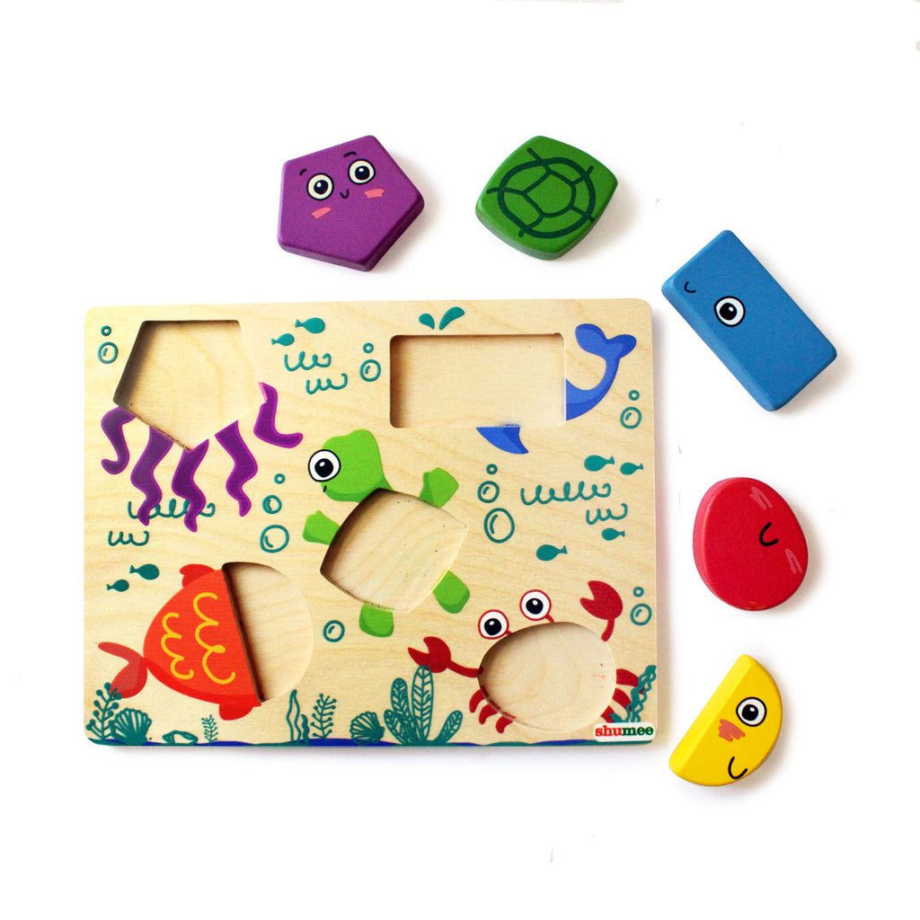 Under the Sea Shape Puzzle Set