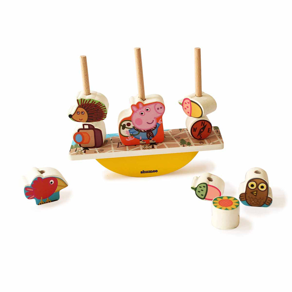 Peppa Pig Wooden Blocks Balancing Game
