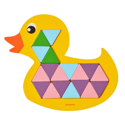 Shumee Quack-a-Duck wooden puzzle with 36 multicolored pieces