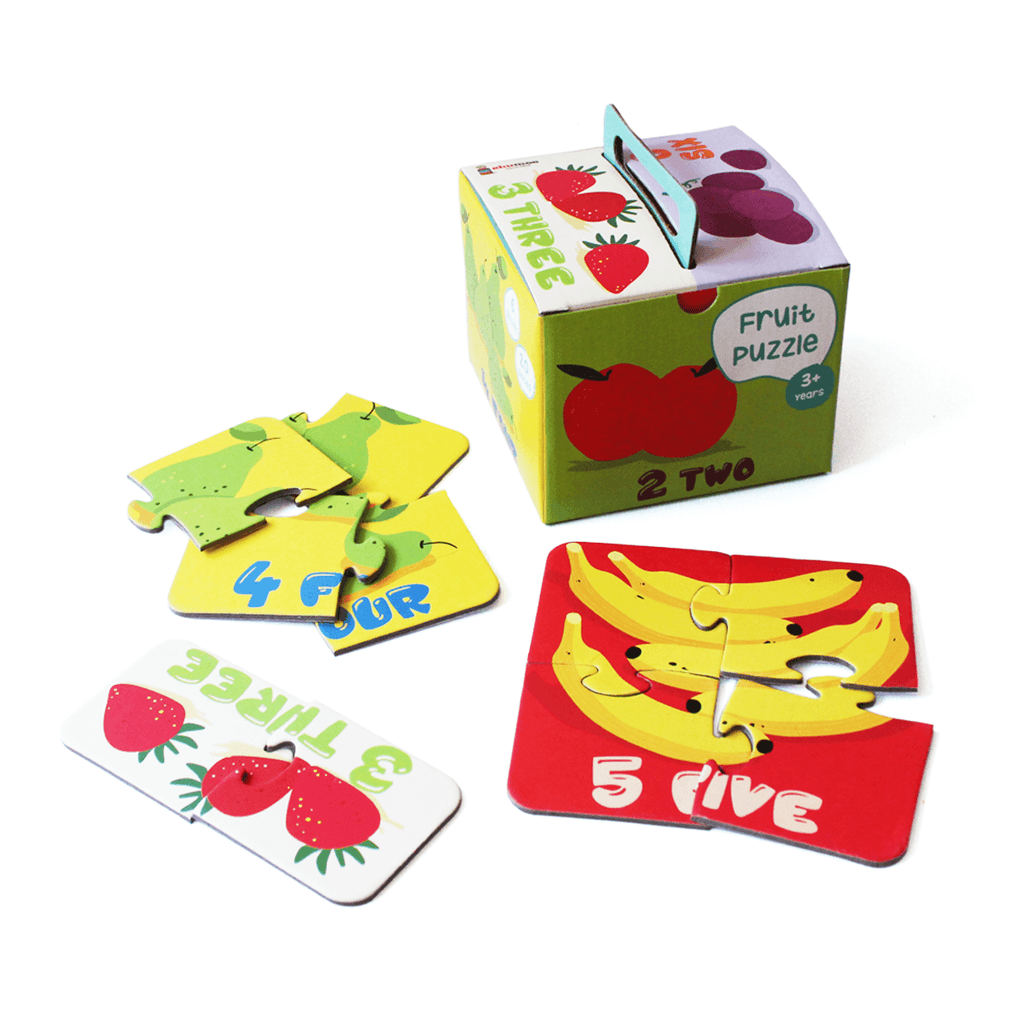 Fruit puzzle - set of 6 puzzles