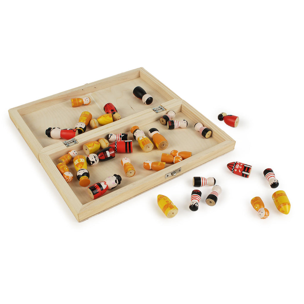 Pirates vs Royals Wooden Chess Set