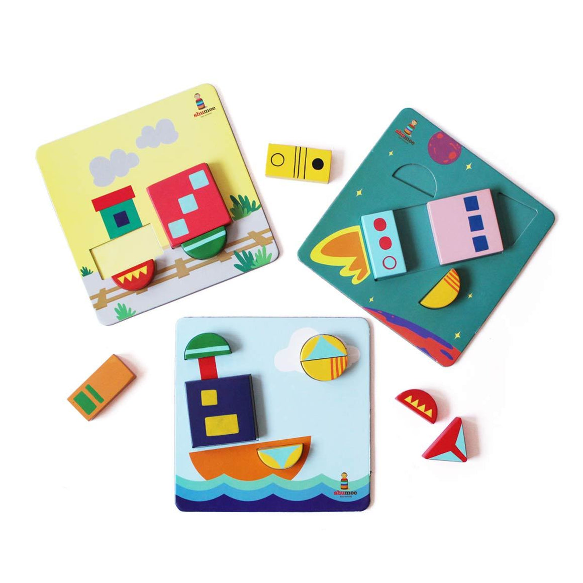Wooden Shape Sorter Kids Puzzle Blocks Toy | Free Shipping - Shumee