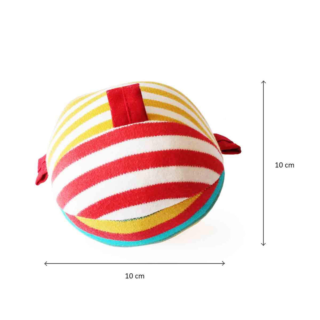 Ele and Ball Rattle Organic Plush Soft Toy for Babies - Shumee