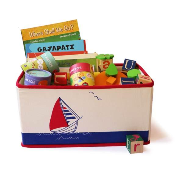 Toy Storage Bin - Sailboat saver | Free Shipping - Shumee