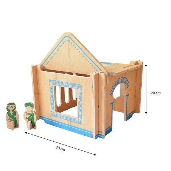 Greek Modular Wooden Doll House