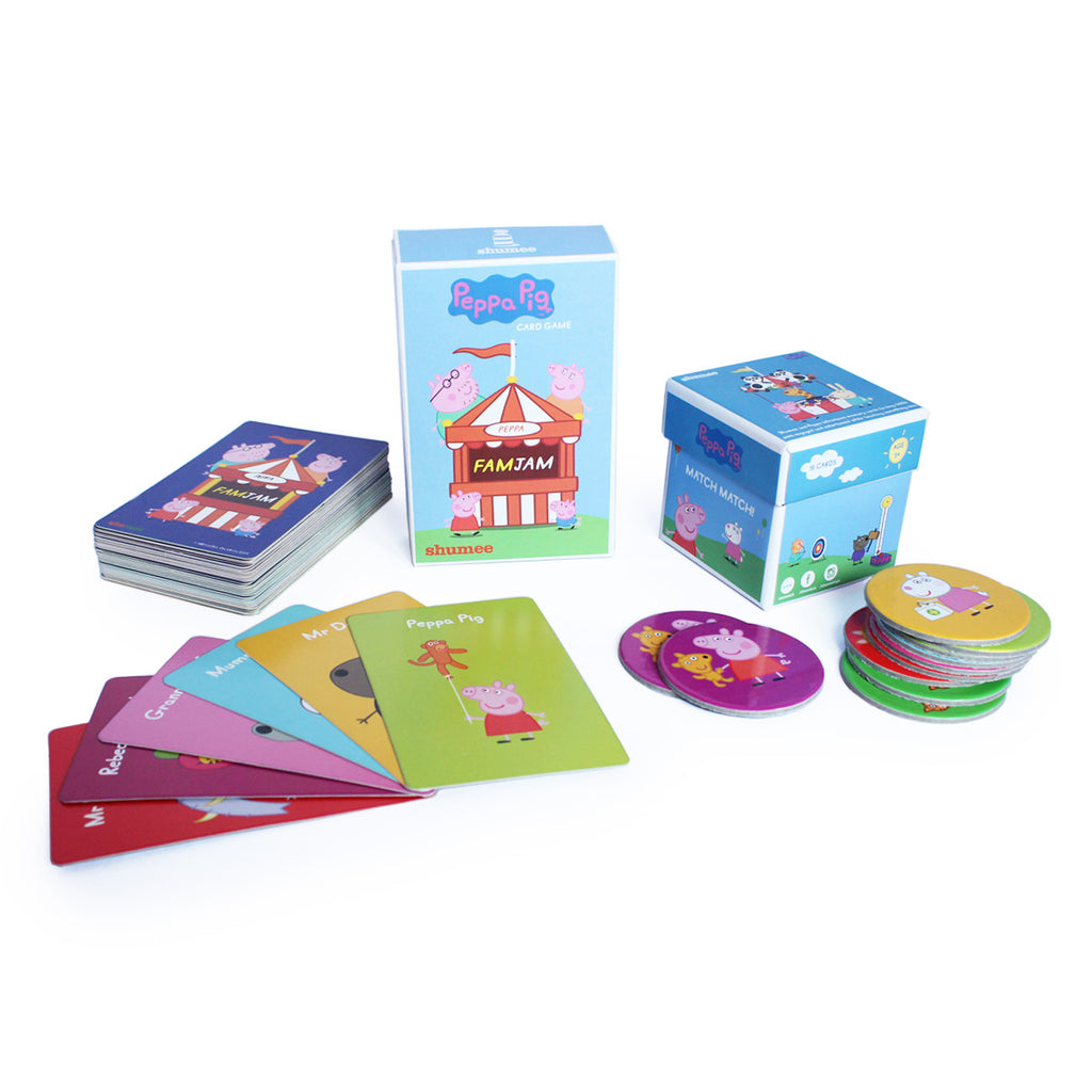 Peppa Pig Carnival Memory Game and FamJam Cards Combo