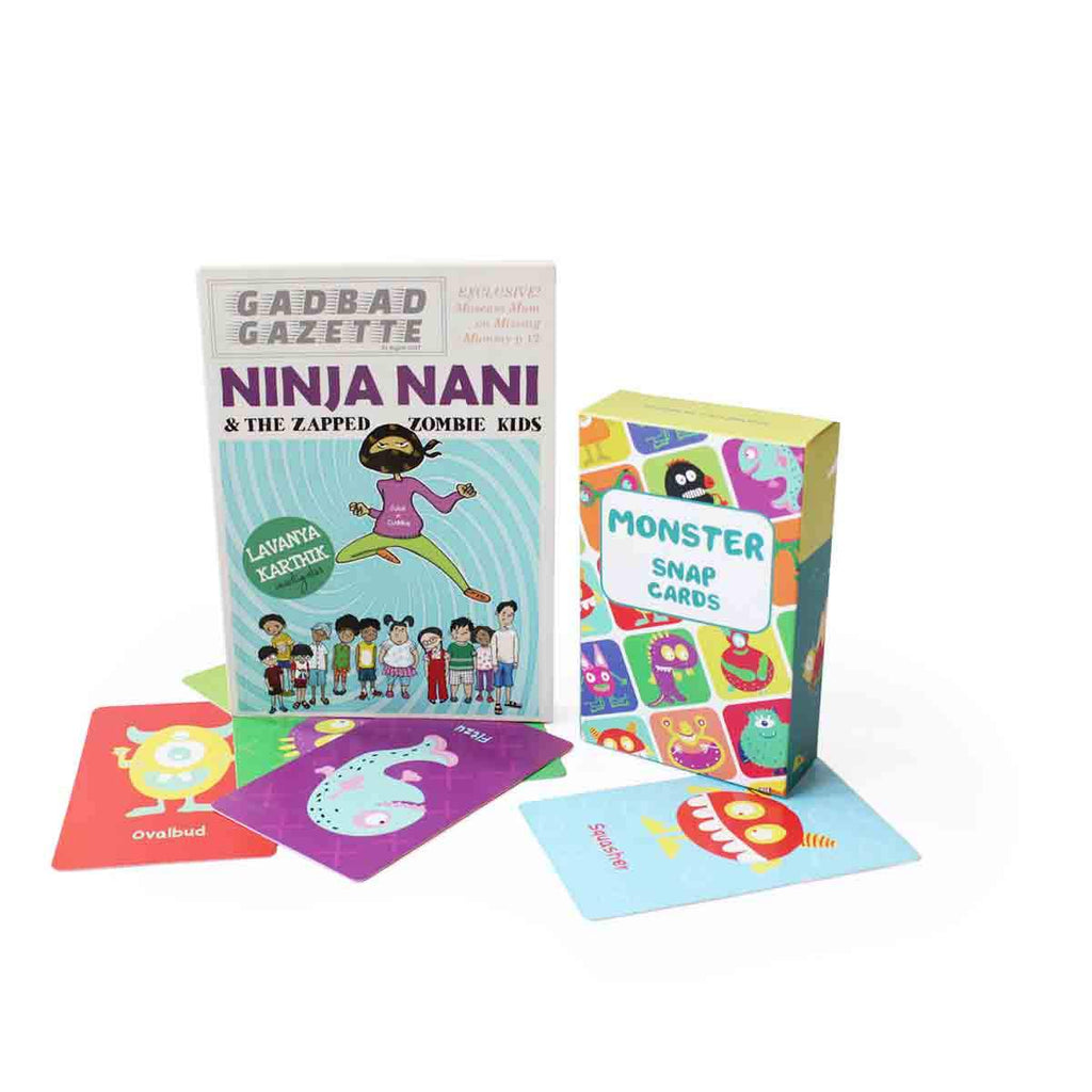 10% Off | Monster Cards And Ninja Naani Book Combo - Shumee