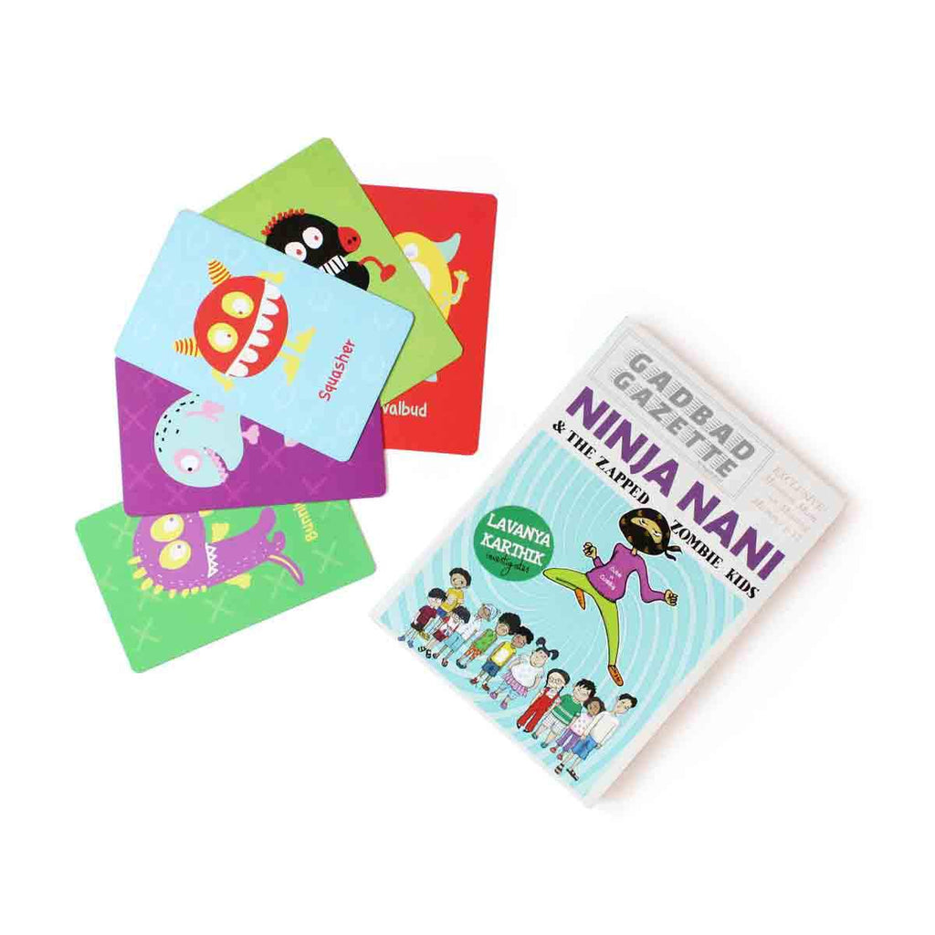 Monster Cards and Ninja Naani Book Combo
