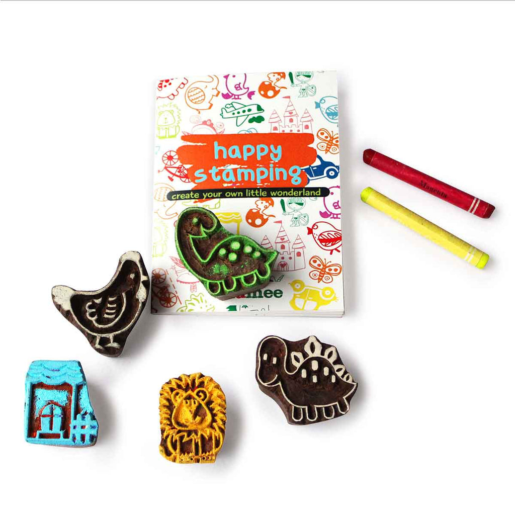Under-the-Sea Wooden Stamps Set