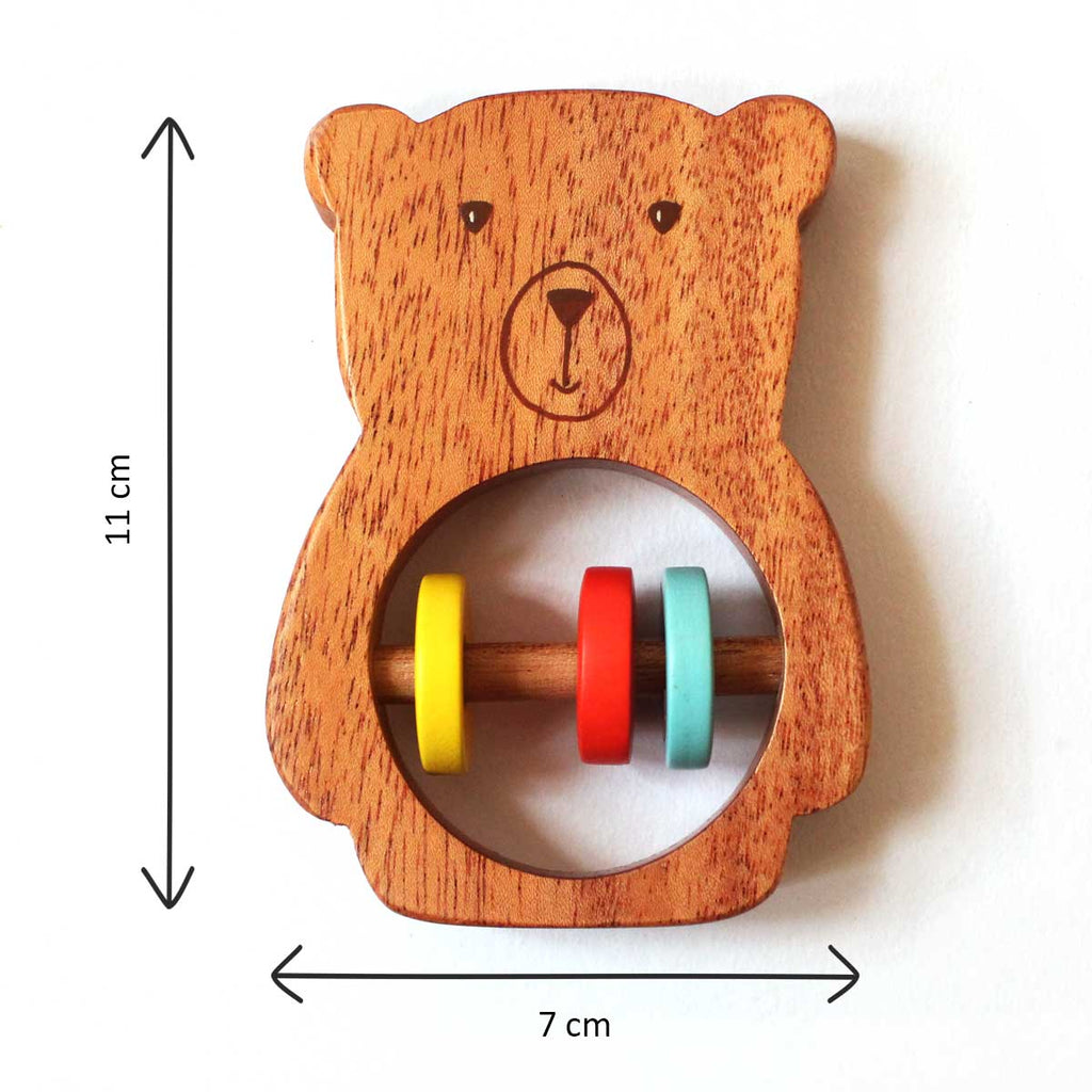 Bozo the Bear - Wooden Rattle