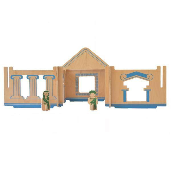 Modular Greek wooden dollhouse