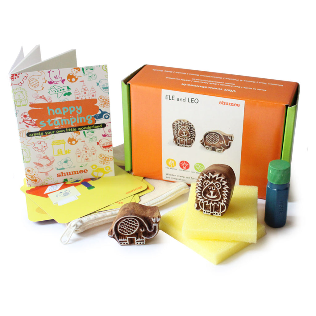 Ele and Leo Wooden stamps set | Free Shipping - Shumee