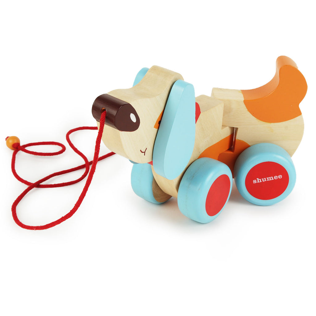 Bruno - the dog - a wooden pull along toy