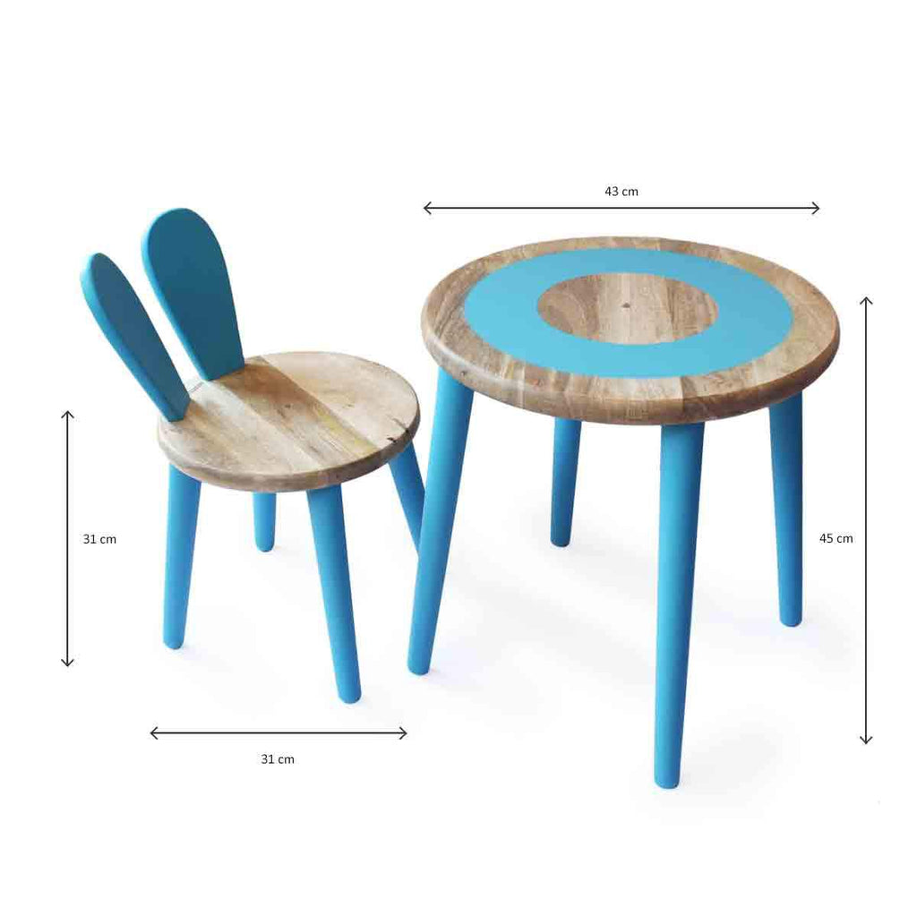 Bunny Table and Chair Set- Blue