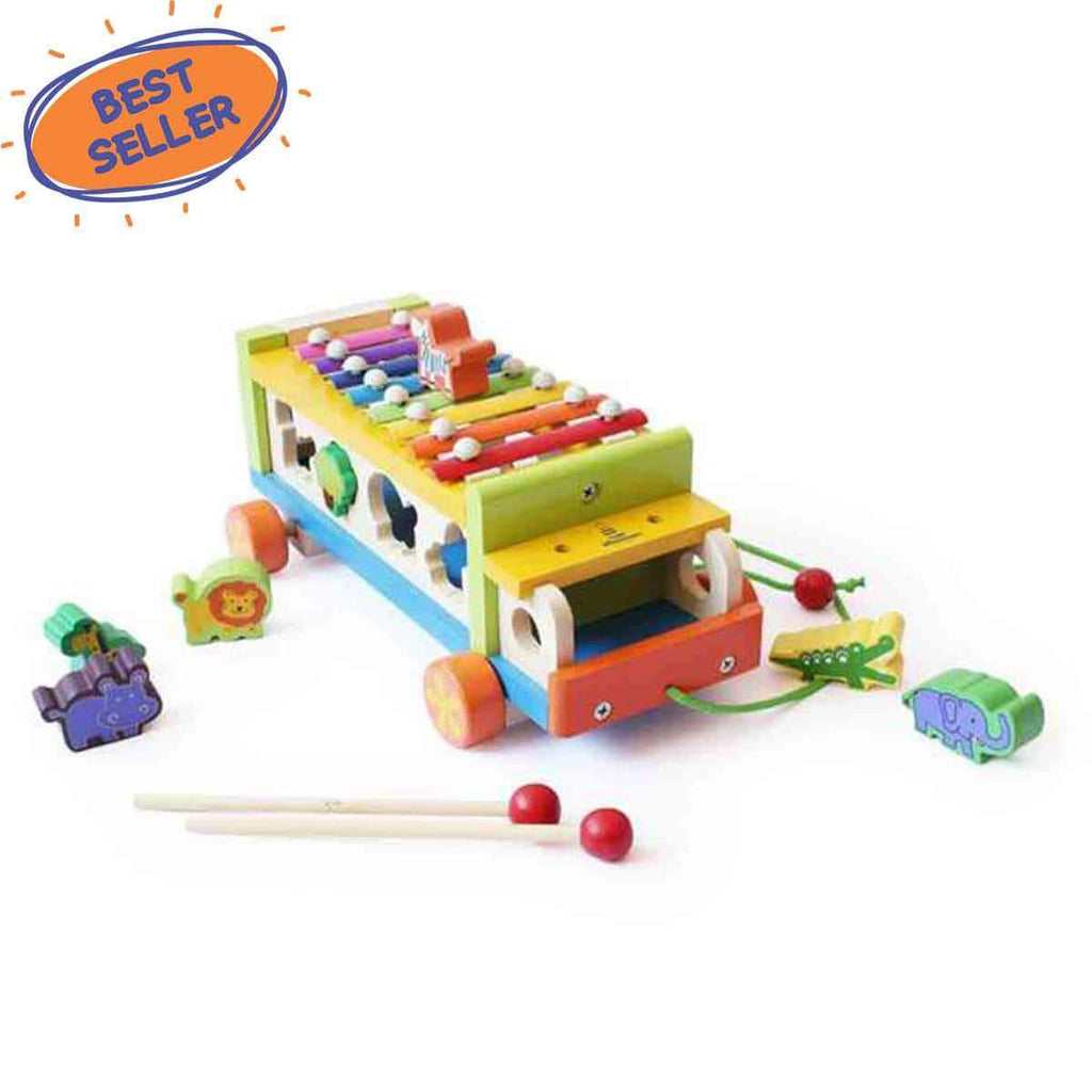 Musical Wooden Toy Truck | Free Shipping - Shumee