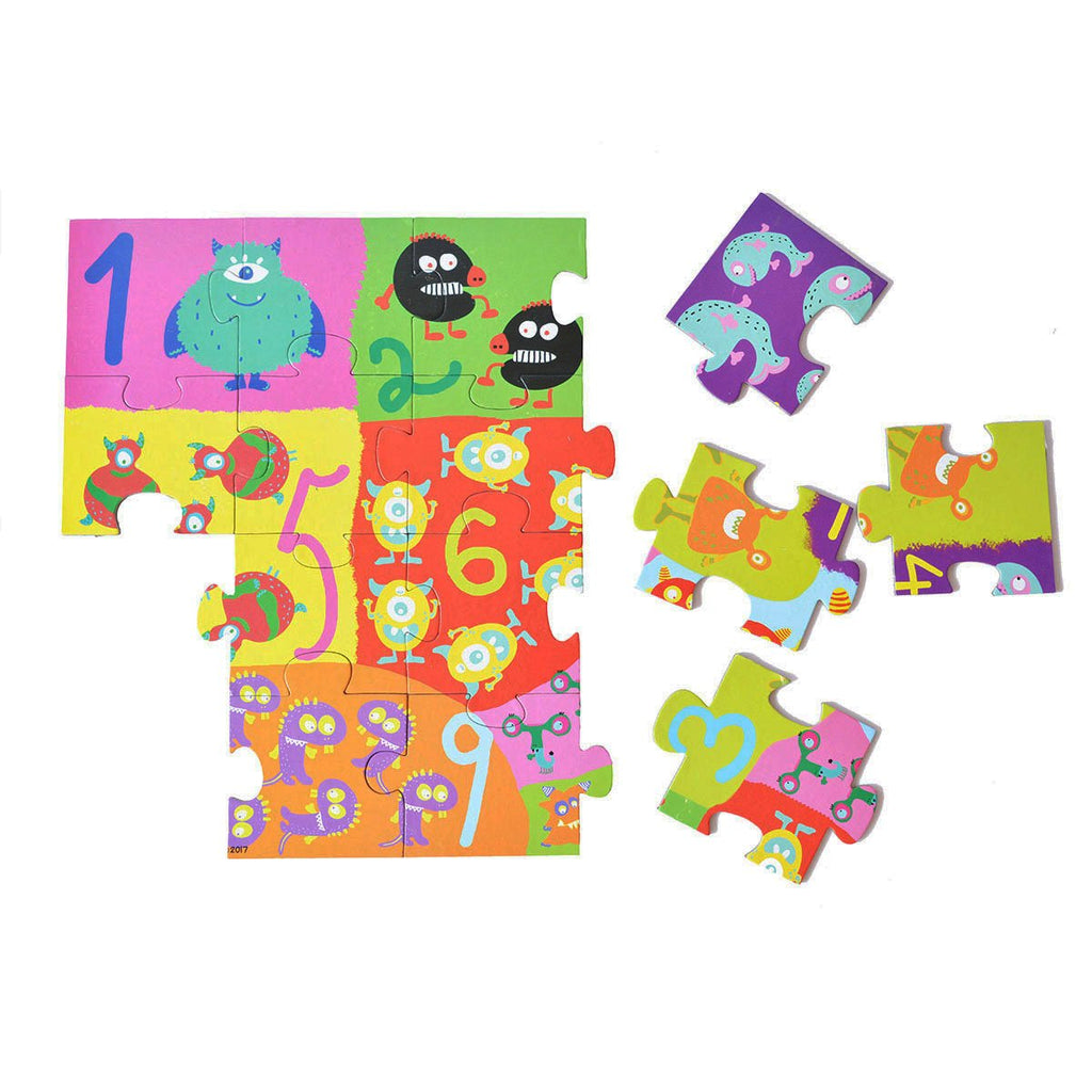 Colorful Monster Floor Puzzle game for kids