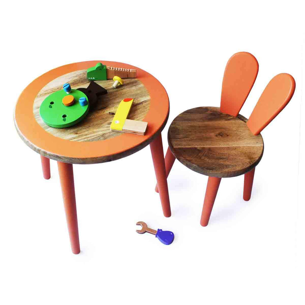 Bunny Table and Chair Set-Orange