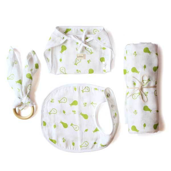 Organic Baby Essential Set - Green Pear