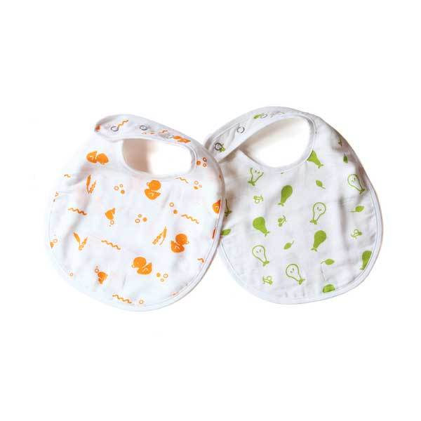 100% Organic Muslin Cotton Bibs for Babies | Free Shipping - Shumee