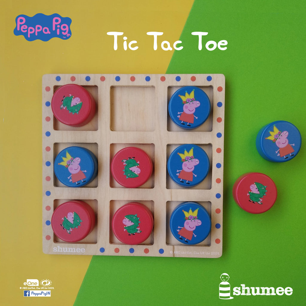Peppa vs George Tic Tac Toe