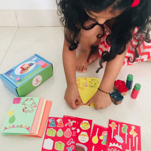 Peppa Wooden Stamps and Sticker DIY set