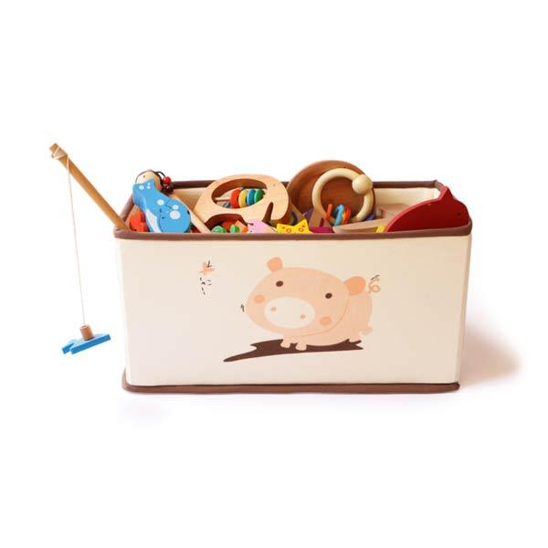 Wooden Toy Storage Box - Pig Pen | Free Shipping - Shumee