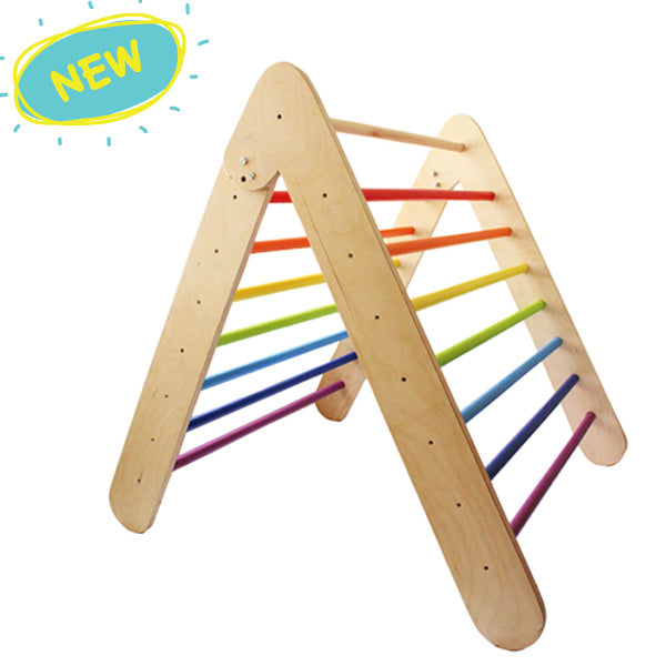 Wooden Rainbow Pikler Triangle