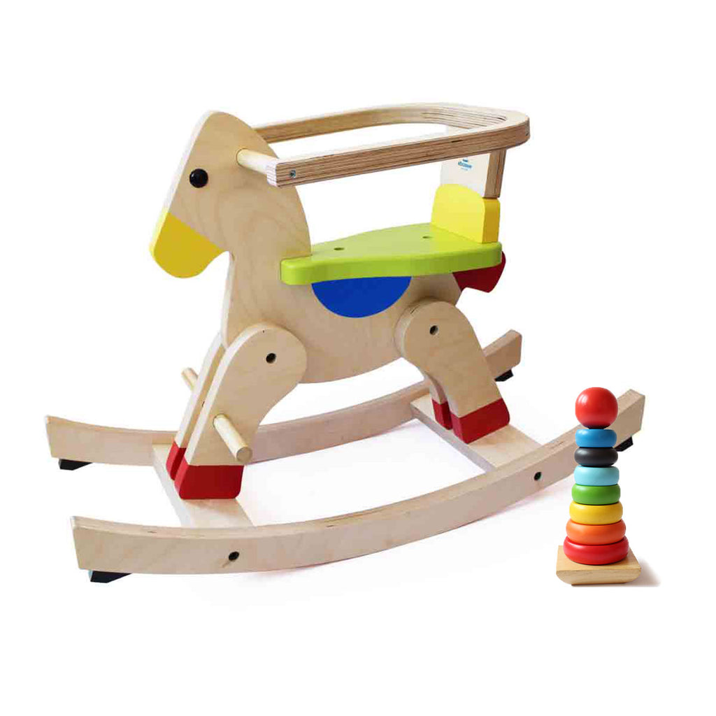 Classic Rocking Horse and Stacker Combo