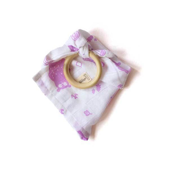 Teether Ring with Wipe Cloth