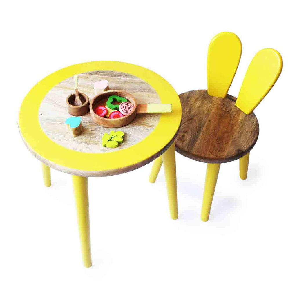 Bunny Table and Chair Set-Yellow
