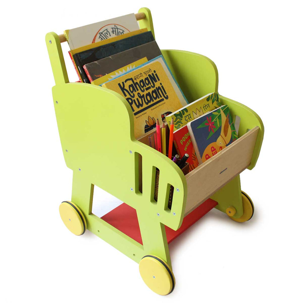 Wooden Shopping Push Cart for Toddlers