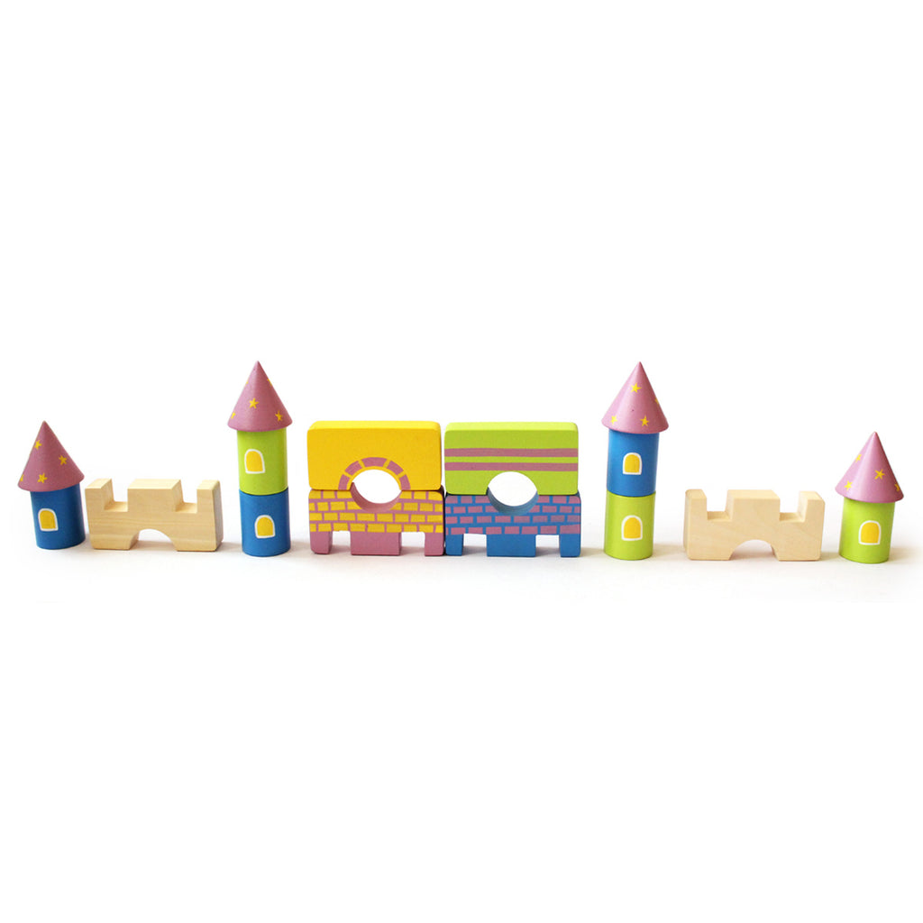 Starry Castle and Fantasy Characters Wooden Blocks