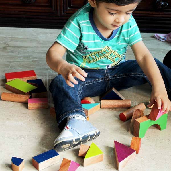 Wooden Multishape Chalk-o-Blocks Set