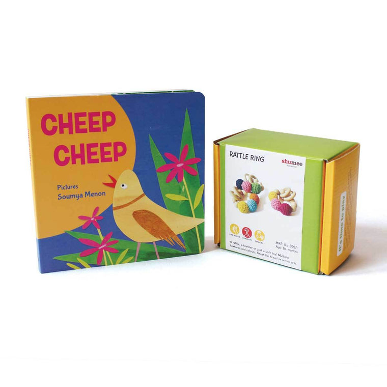 10% Off | Rattle Rings And Cheep Cheep Board Book - Shumee