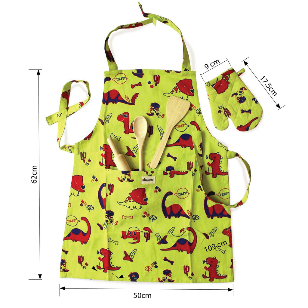 Lil Chef's Apron set- Dino World