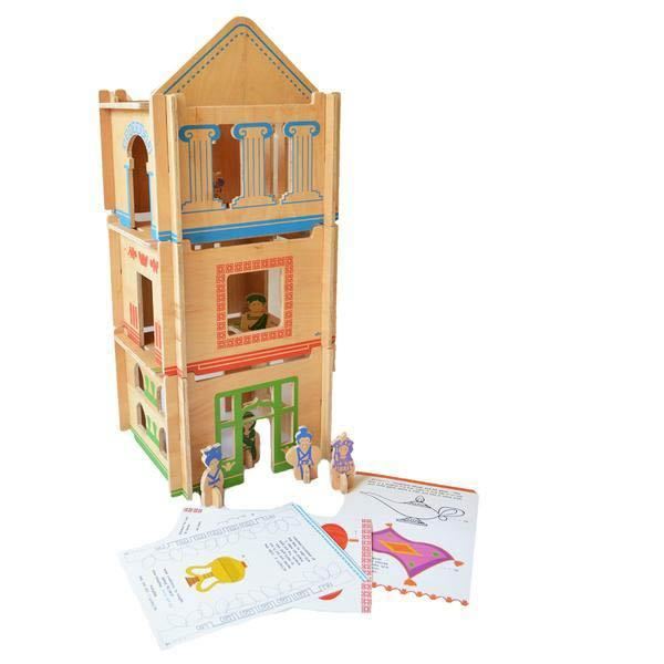 Multi-level wooden dollhouse kits