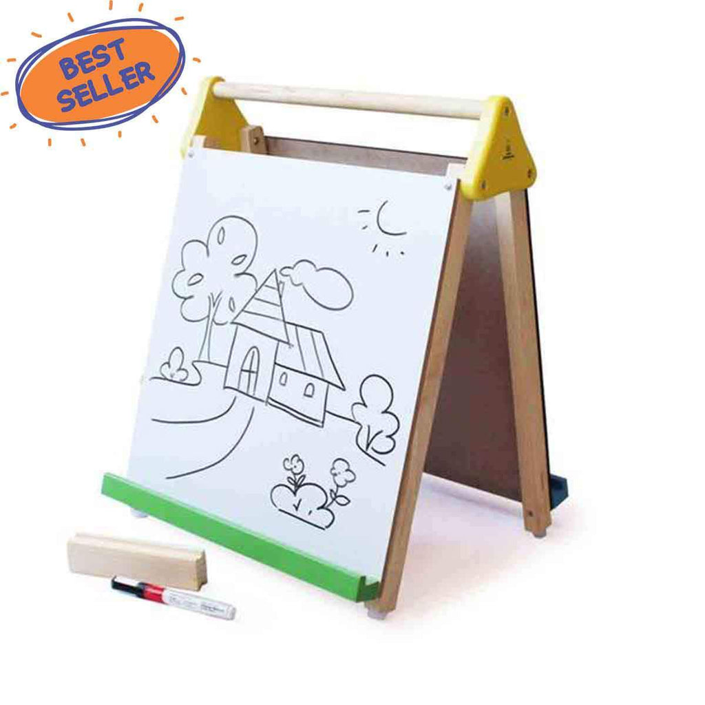 3-in-1 Combo | Black Board & White Board Easel for Kids Online
