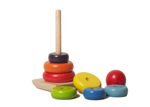 Eco Friendly Wooden Rainbow Stacker Toy