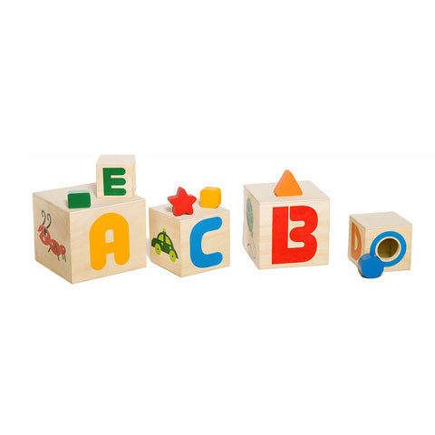 Eco Friendly Wooden Stacking Cubes