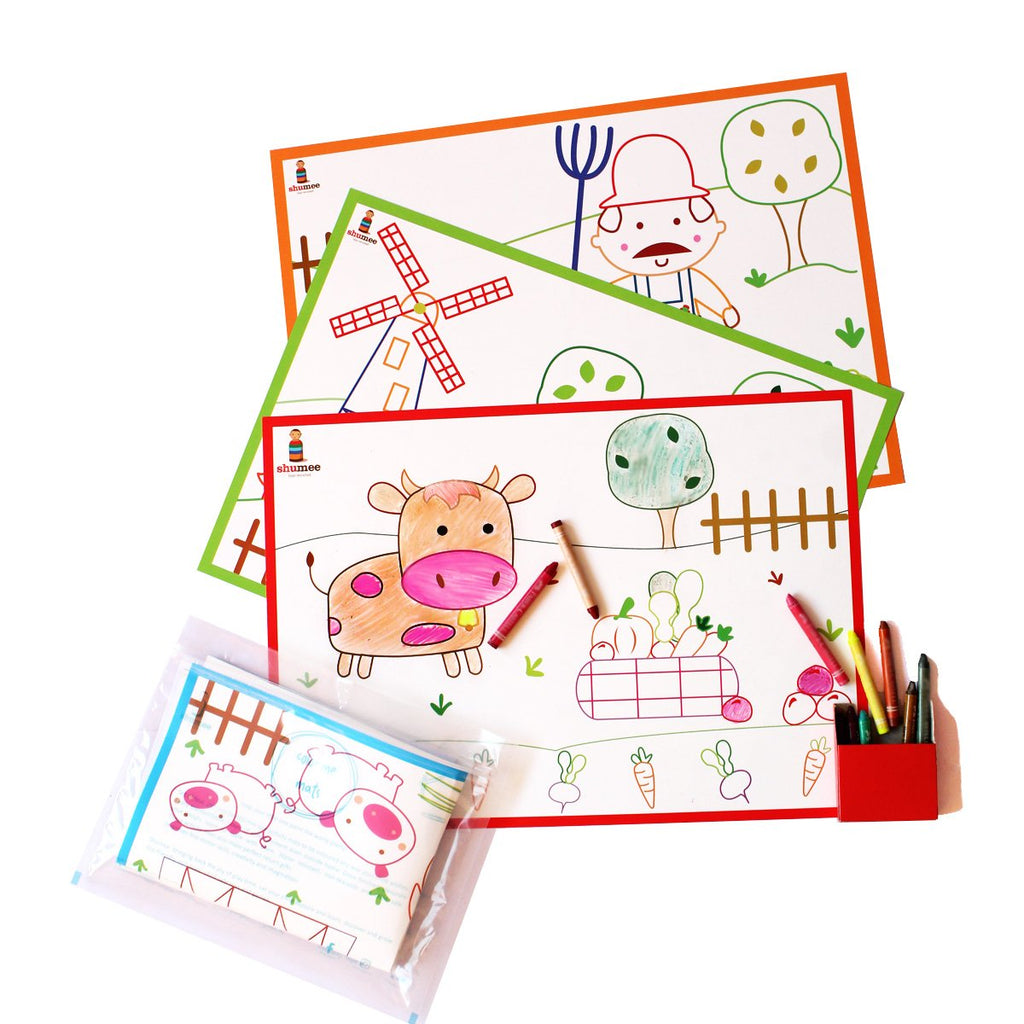 Coloring Mats - Farm Yard