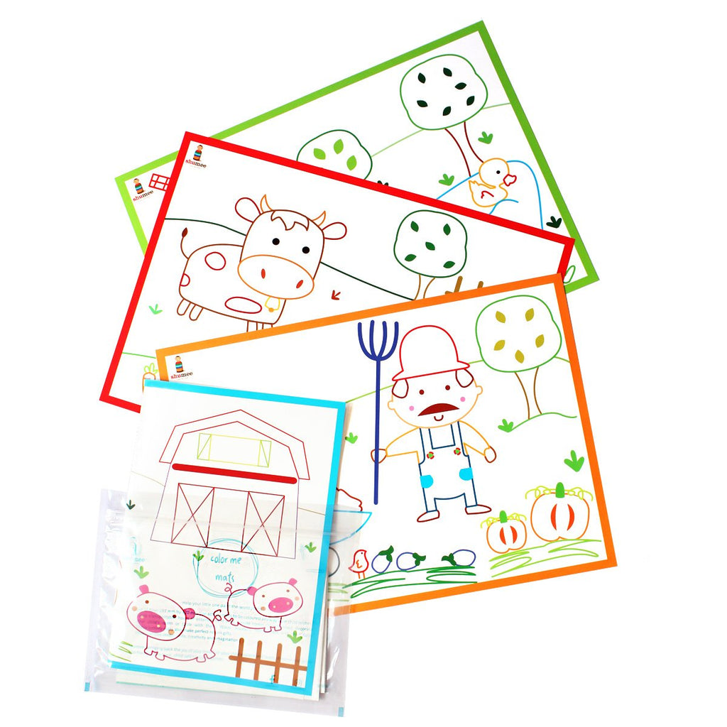 Coloring Mats for Children - Farm Yard | Free Shipping - Shumee