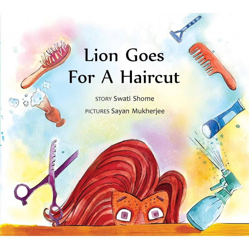 Lion goes for a haircut